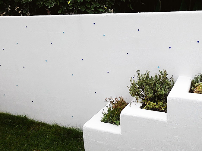 擁壁塗装の施工完了後