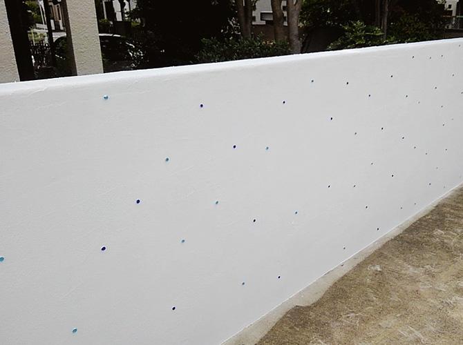 千葉県柏市住宅の擁壁(ブロック塀)塗装工事の施工後
