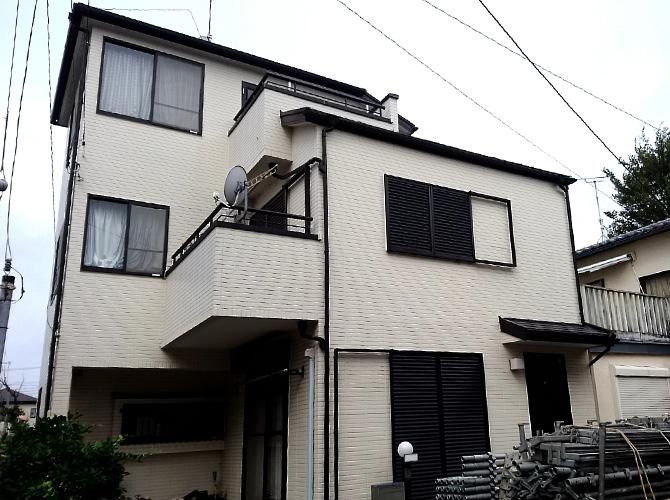 千葉県船橋市戸建住宅の外壁塗装・屋根塗装工事の施工前