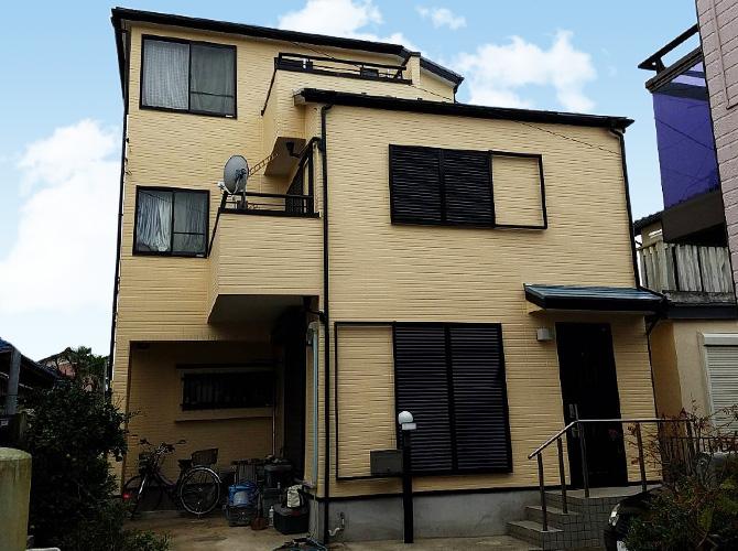 千葉県船橋市戸建住宅の外壁塗装・屋根塗装工事の施工後