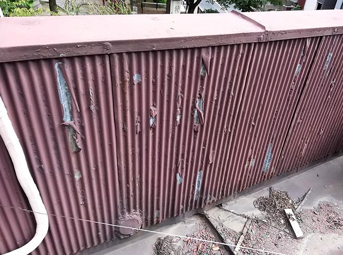 トタン屋根塗装の施工前