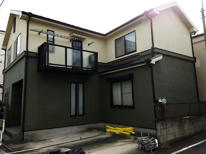 東京都葛飾区戸建住宅の外壁塗装・屋根塗装工事の施工前
