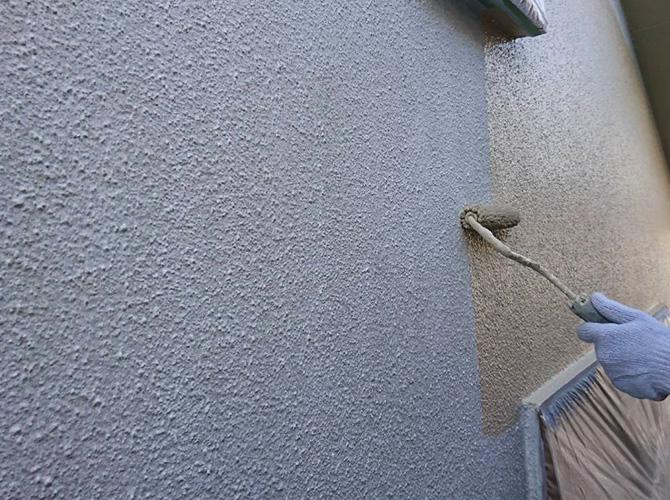 2階部分の中塗り