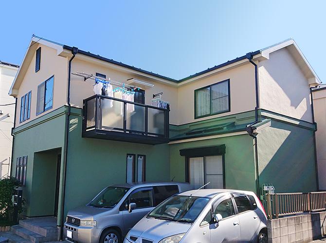 東京都葛飾区戸建住宅の外壁塗装・屋根塗装工事の施工後