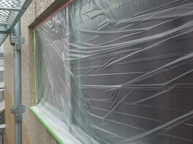 塗装しない箇所の養生