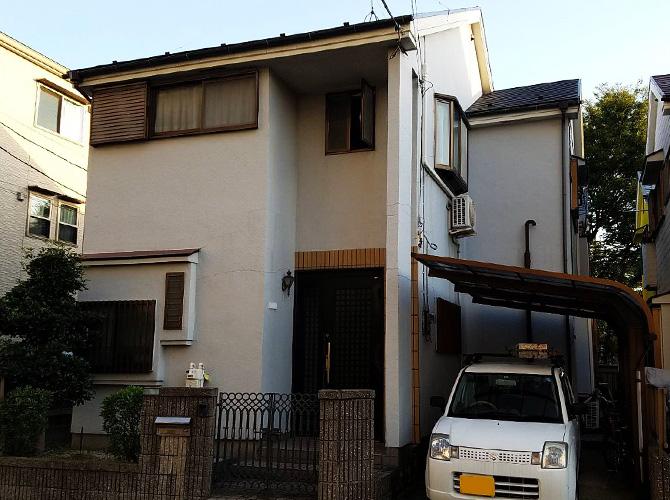 東京都足立区戸建住宅の外壁塗装・屋根塗装工事の施工前