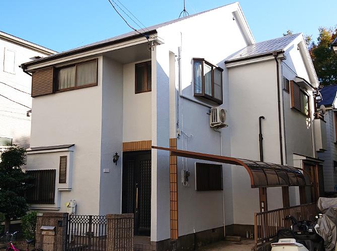 東京都足立区戸建住宅の外壁塗装・屋根塗装工事の施工後