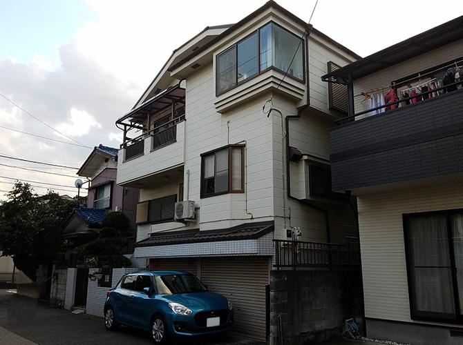 埼玉県坂戸市2階建住宅の外壁塗装・屋根塗装工事の施工前