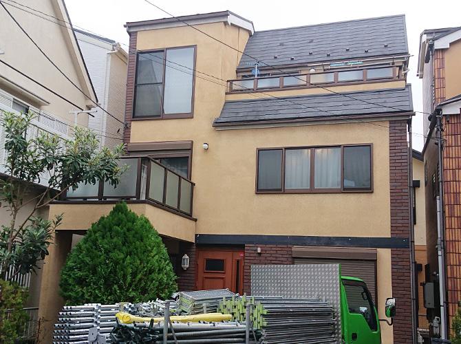 東京都文京区戸建住宅の外壁塗装・屋根塗装工事の施工前