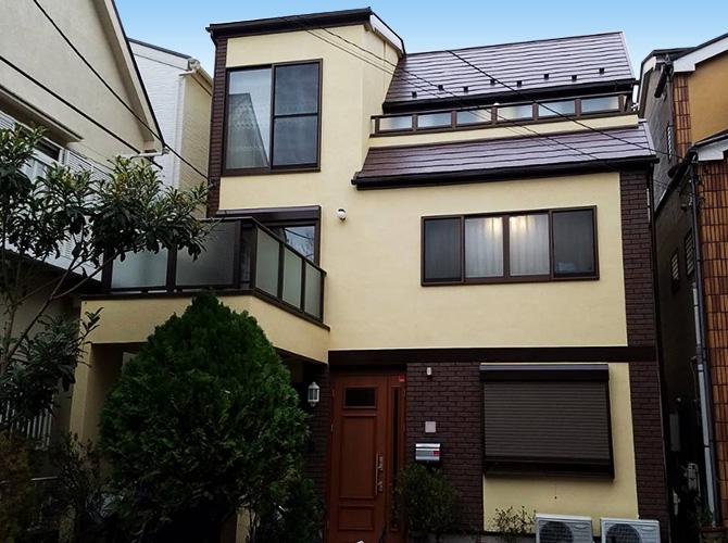 東京都文京区戸建住宅の外壁塗装・屋根塗装工事の施工後