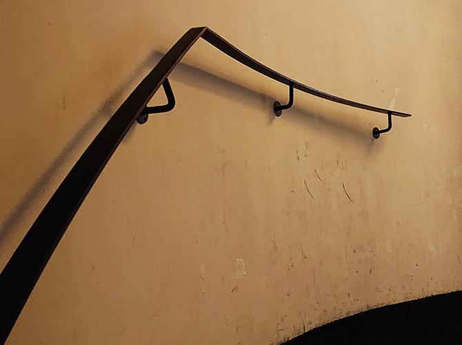 階段壁の施工前