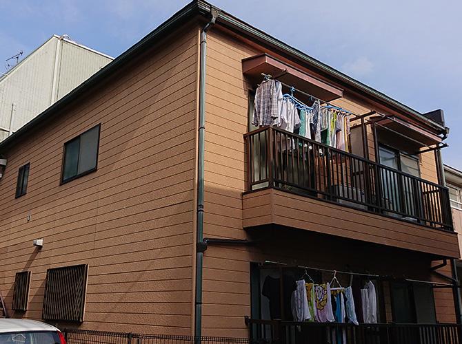 東京都中野区2階建アパートの外壁塗装・屋根塗装工事の施工前