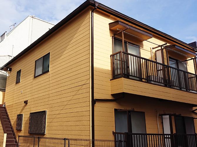 東京都中野区2階建アパートの外壁塗装・屋根塗装工事の施工後