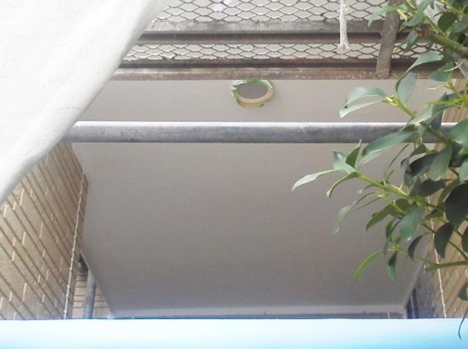 軒天井塗装の完了後
