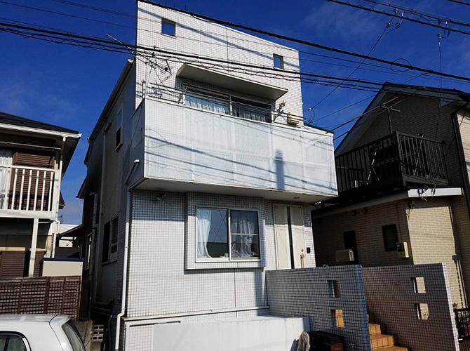 東京都世田谷区戸建住宅の外壁塗装・屋根塗装工事の施工前