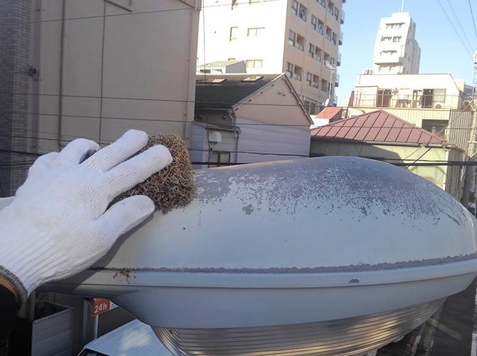 東京都台東区道路街路灯の塗装工事の施工前