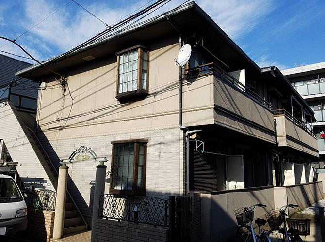 東京都板橋区2階建アパートの外壁塗装・屋根塗装工事の施工前