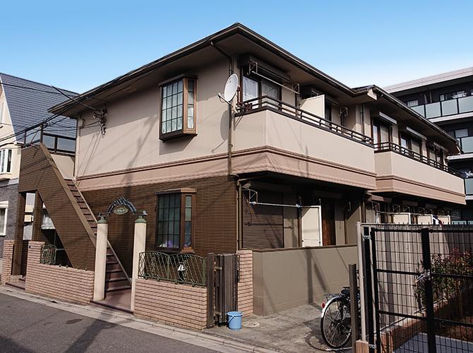 東京都板橋区2階建アパートの外壁塗装・屋根塗装工事の施工後