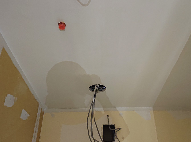 天井塗装の完了後