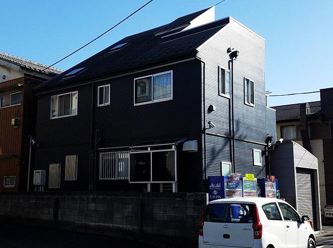 東京都足立区3階建住宅の外壁塗装・屋根塗装工事の施工前