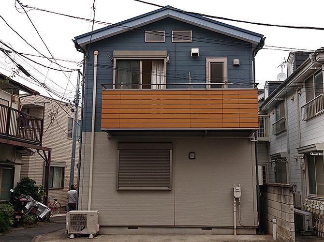東京都渋谷区2階建住宅の外壁塗装・屋根塗装工事の施工前