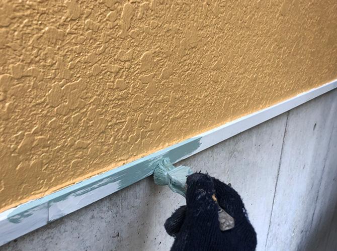 水切りの下塗り
