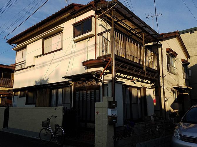東京都北区2階建住宅の外壁塗装・屋根塗装工事の施工前