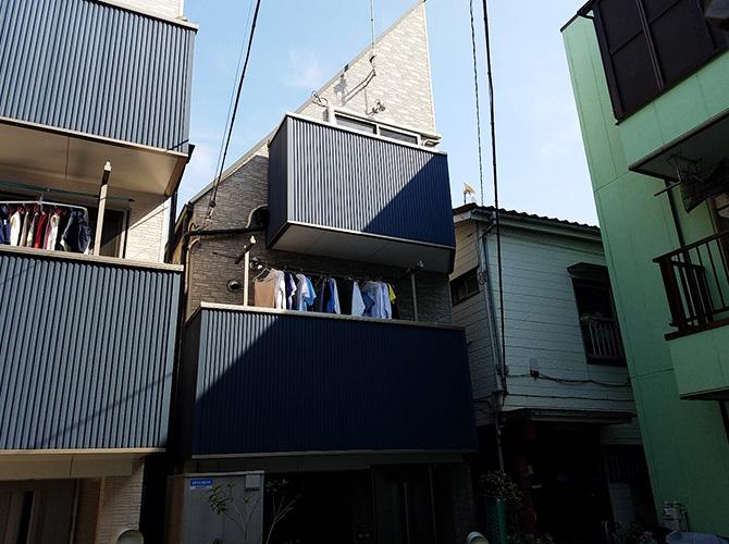 東京都大田区3階建住宅の外壁塗装・屋根塗装工事の施工前