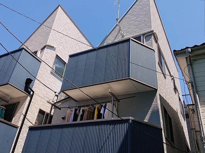 東京都大田区3階建住宅の外壁塗装・屋根塗装工事の施工後