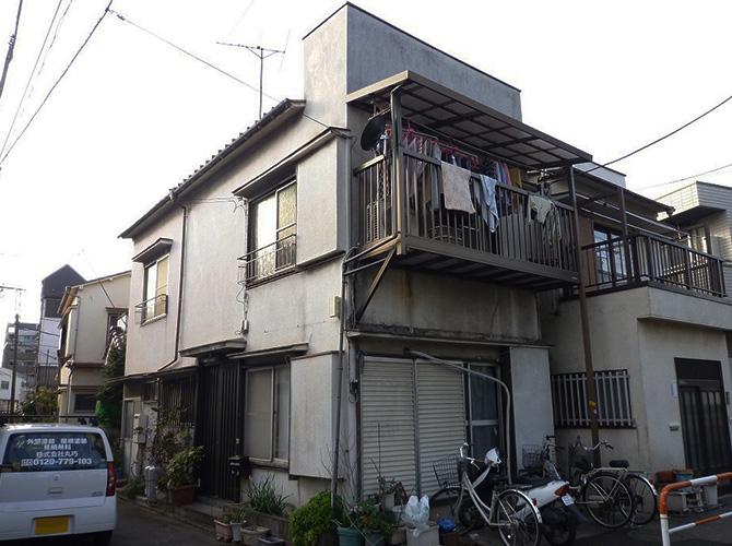 東京都足立区扇2階建住宅の外壁塗装・屋根塗装工事の施工前