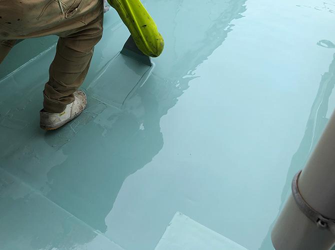 ウレタン防水材二層目