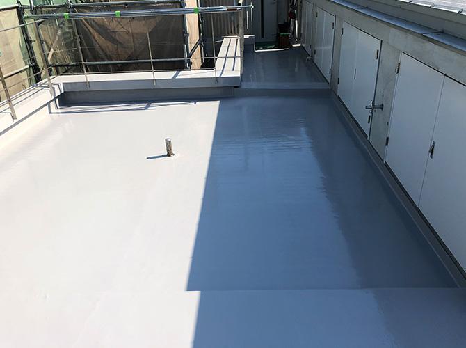 屋上防水の完了後