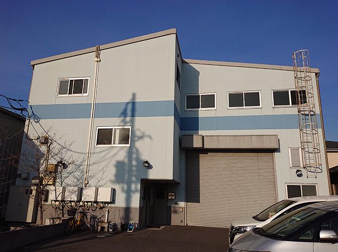 埼玉県八潮市3階建工場のガイナ外壁塗装工事の施工前