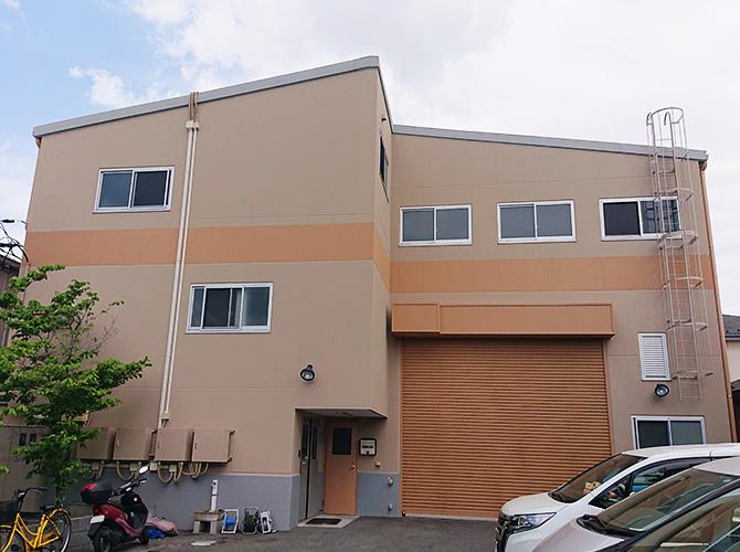 埼玉県八潮市3階建工場のガイナ外壁塗装工事の施工後