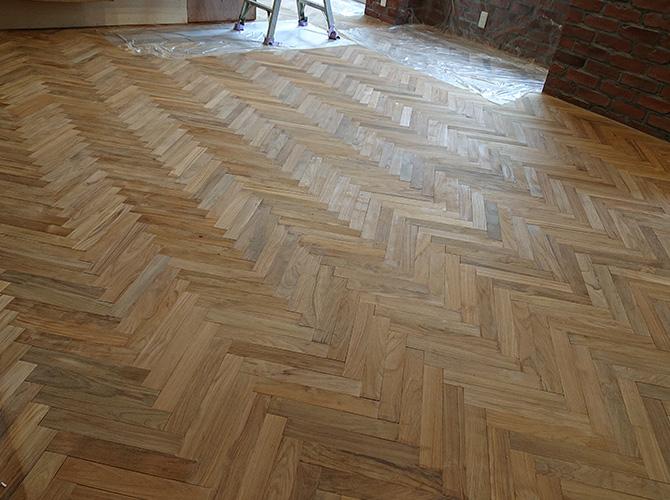 床塗装の施工前