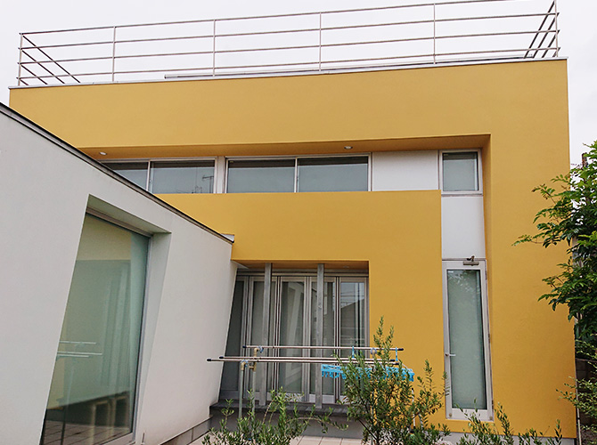 世田谷区3階建戸建住宅の外壁塗装工事の施工後
