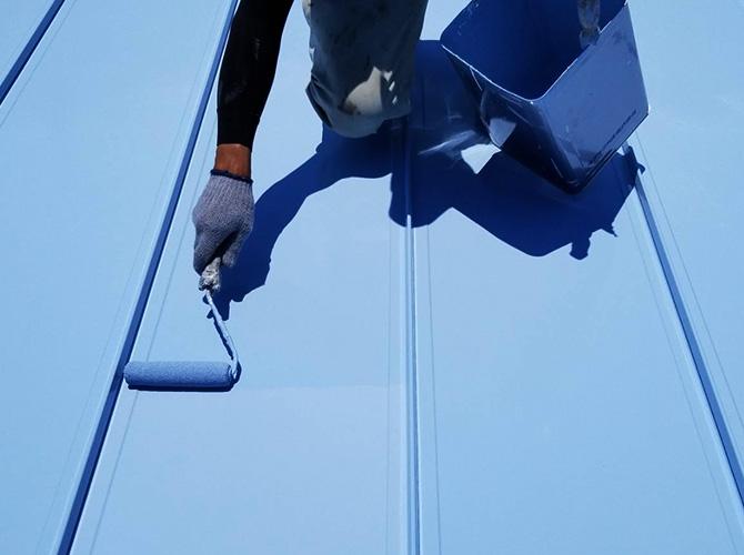 東京都江戸川区3階建工場の屋根塗装工事の施工後