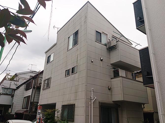 東京都足立区保塚3階建住宅の外壁塗装・屋根塗装工事の施工前