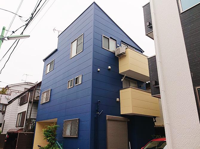 東京都足立区保塚3階建住宅の外壁塗装・屋根塗装工事の施工後