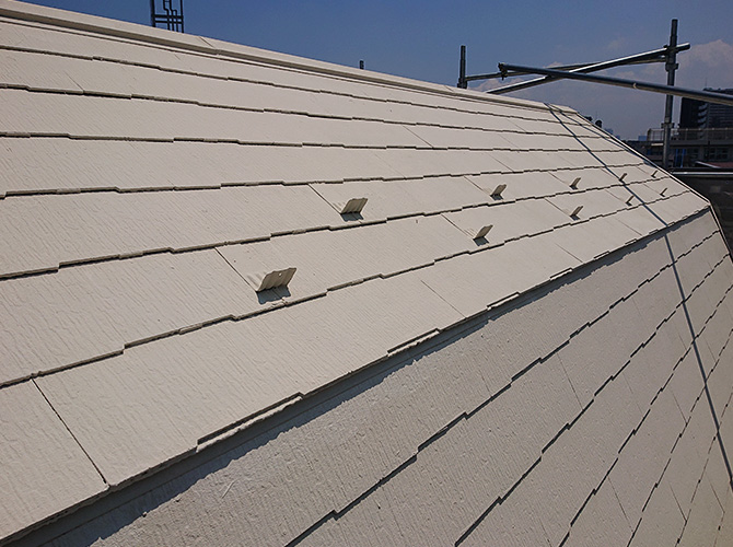 屋根塗装の施工後