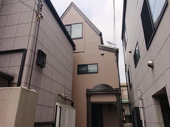 東京都北区3階建住宅の外壁塗装・屋根塗装工事の施工後
