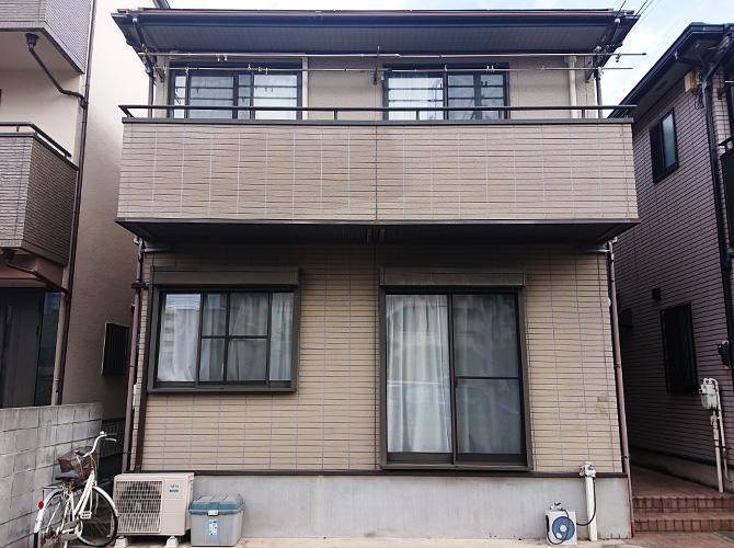 東京都足立区弘道2階建住宅の外壁塗装・屋根塗装工事の施工前
