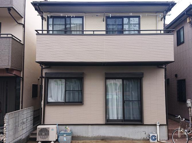 東京都足立区弘道2階建住宅の外壁塗装・屋根塗装工事の施工後