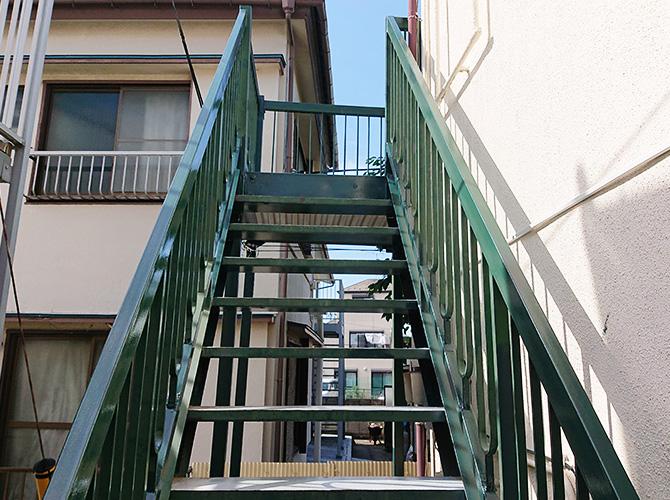 鉄骨階段の完了後