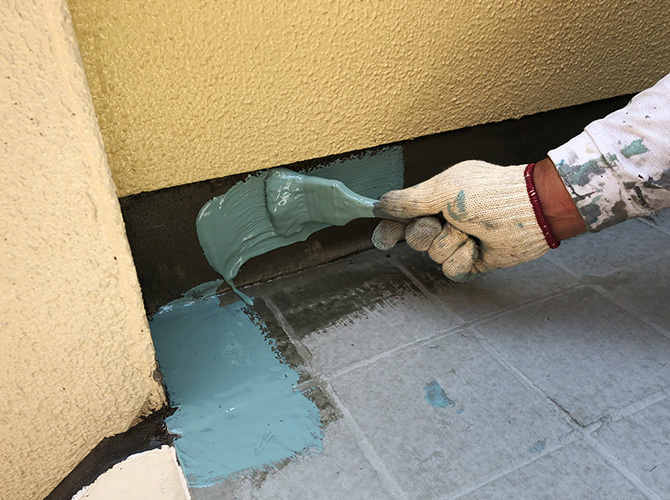ウレタン防水材塗布