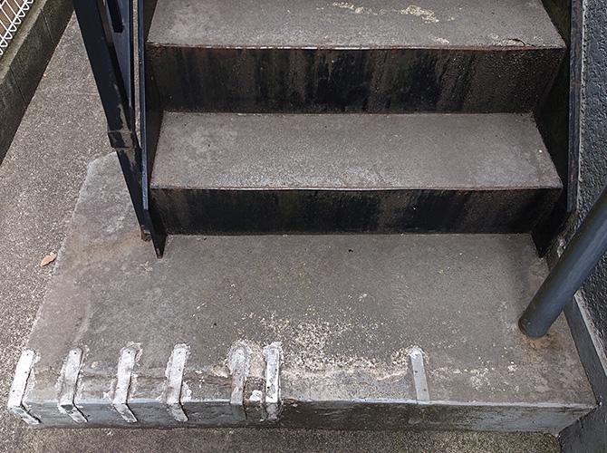 階段塗装の施工前