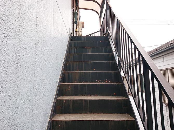 階段・手すりの塗装前