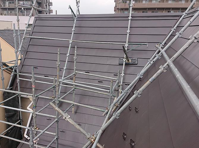 屋根カバー工事の施工後