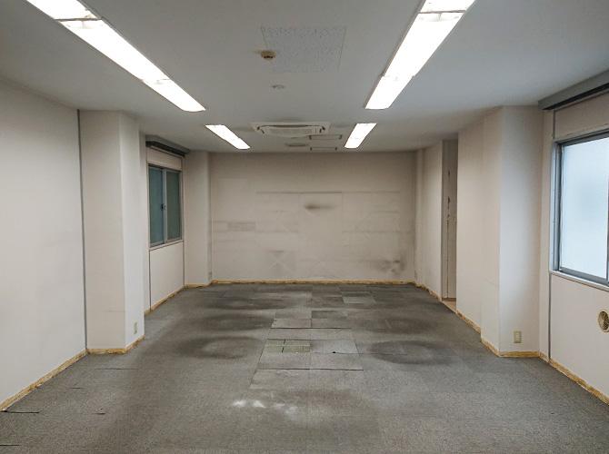 東京都千代田区オフィスの内部塗装工事の施工前
