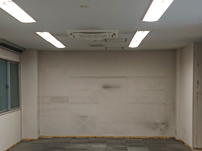 内部塗装の施工前